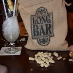 Singapore Sling with a bag of monkey nuts