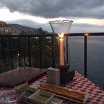 View from the Italian restaurant for dinner