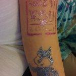 Glitter tattoos