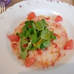Shrimp carpaccio