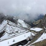 slightly cloudy summit