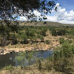 The view from our tent at Serian camp Mara. Amazing accommodations!