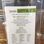 The Sakura happy hour is an incredible deal