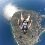 Skydiver over Block Island