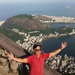 View of the lagoon, Ipanema and Copacabana beaches from the Corcovado Mountain