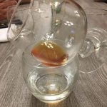 Lightly steamed cognac. There was a bottle, 3/4 full, but they opened a new bottle just for me!