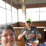 Hubby and I enjoying ourselves at Sunset Grill in St. Augustine.