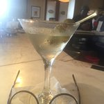 Black Raspberry Cosmo and a Classic Martini