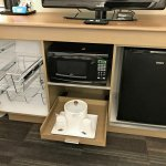 Micro fridge - microwave - storage in all rooms