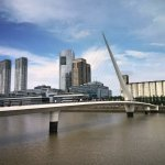 Woman's bridge, one of the biggest reasons why tourists come to Puerto Madero
