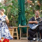 Dancer and guitarist at Keoki's Paradise in Poipu
