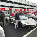 Lambourghini with Harry at Brands Hatch