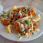 Awesome fish tacos.