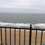 Beautiful Victorian double staircase and all great view of the ocean and boardwalk from rooms pa