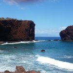 View from walk around from the beach at Lanai.