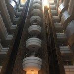 Main atrium in hotel entrance