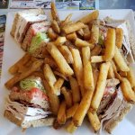turkey club which came with fries and cole slaw