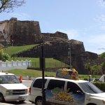 View of Castillo San Cristobal from Plaza Colon