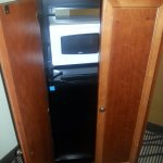 cabinet for microwave and fridge
