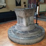 Ancient Baptismal Font in the church