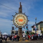 The iconic Fisherman's Wharf sign.
