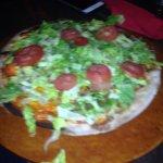 Arugula and prosciutto pizza and Cheeseburger pizza.  Both good!
