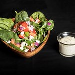 Spinach salad. Available in small, medium or large.