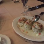 Lump crab cakes for appetizer (added and extra piece)