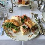 Afternoon tea sandwiches at the Veranda in the Moana Surfrider Hotel on Waikiki Beach