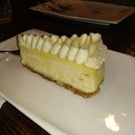 Sour cream cheesecake.