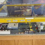 Model of the diesel shop in Bailey Yard