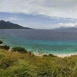 the maripipi volcano from the view point on sambawan island