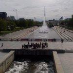 Weir on river Iset Foto