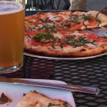 A very good margherita pizza, and a beer at Vinz