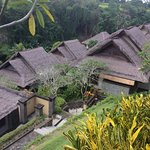 my villa was on very top of the hill, overlooking the river and verdant jungle across