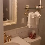 Renovated bathroom and toiletries of Room 4