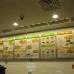 menu board at the new Captain D's