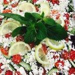Fresh  healthy Greek salad catering