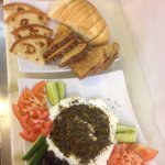 Lebanon with za'atar and olive oil appetizer