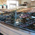 display of doughnuts