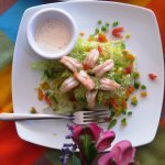 Aguacate Rellendo...stuffed avocado with shrimp