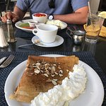The something cinnamon crepe and the healthy breakfast