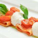 Paccheri with Italian Burrata and baked Organic Tomato Sauce