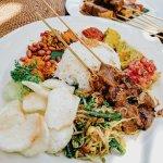 Nasi Campur and Tempe Sate