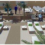 """Croquis 3D de notre nouvelle plage privée """"La Mer"""""""