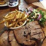 open roast organic pork sandwich