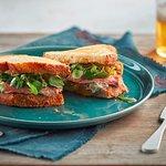 steak sandwich at the pagination