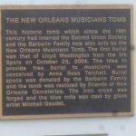 Musicians Tomb plaque