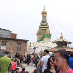 Crowds at the Stupa.....