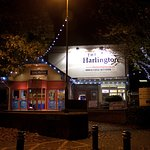 The outside of The Harlington